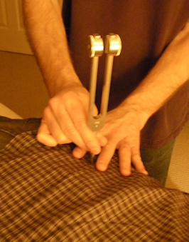 Tuning Fork Therapy for the Back or Shoulder